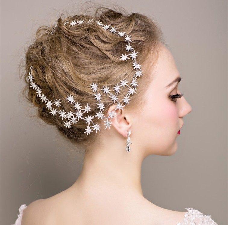 Headband cristal pluie étoiles bijou de cheveux extraordinaire