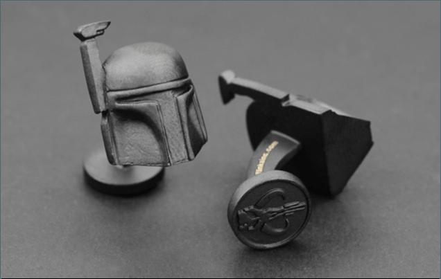La Maison du Bouton de Manchette, modèle Star Wars Boba Fett.