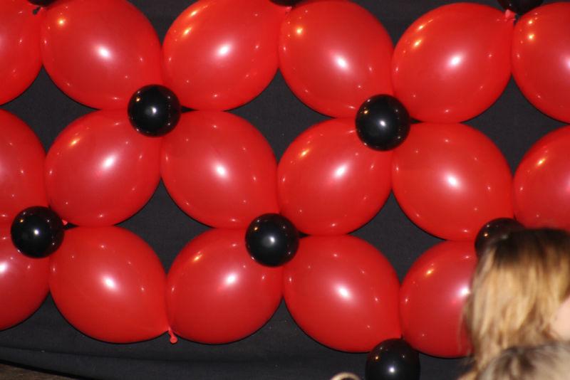 Beispiel: Ballonwand, Foto: Ballonmeister.