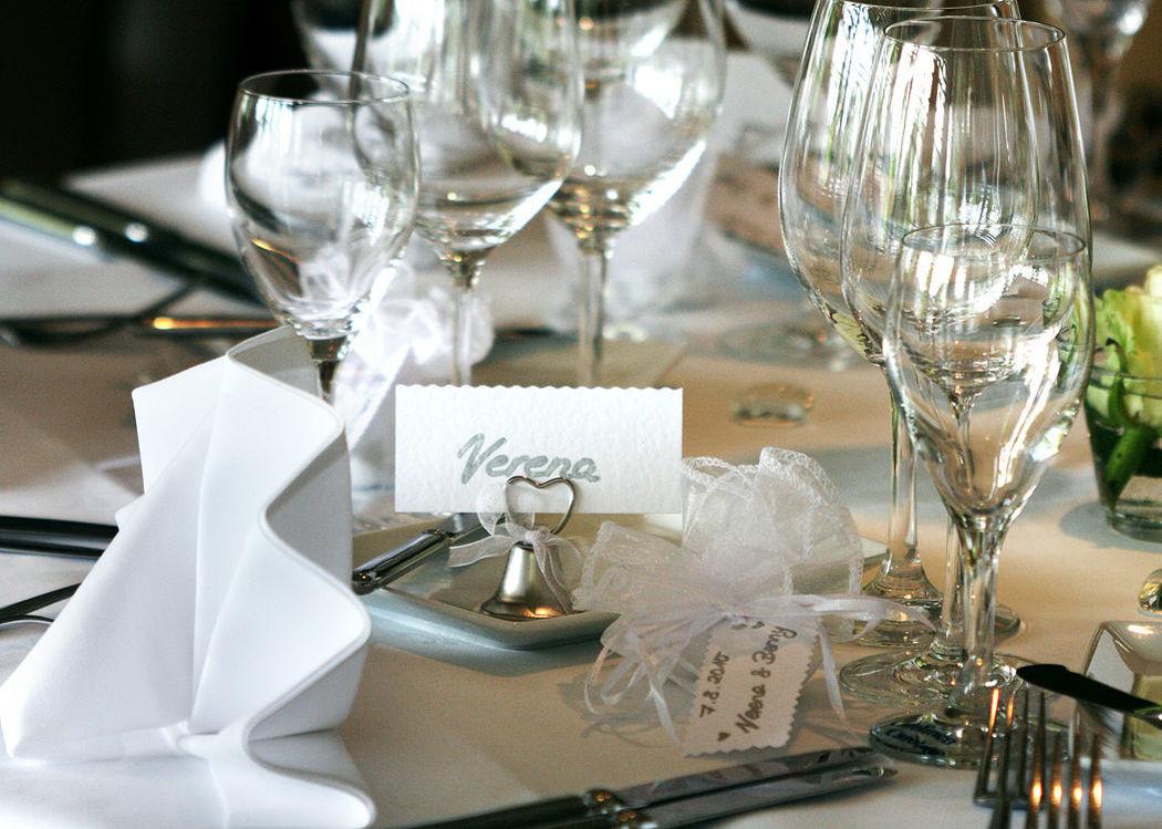 Beispiel: Tischdekoration, Foto: Die Insel.