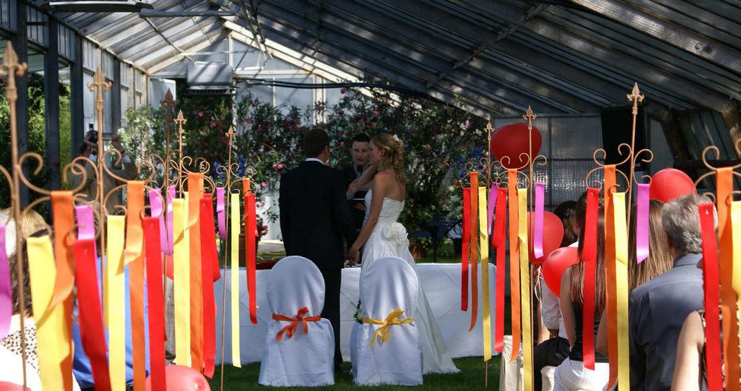 Beispiel: Zeremonie mit Dekoration, Foto: Sinnesfreunde.