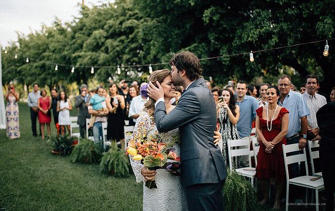 Buquê da noiva e corredor cerimônia