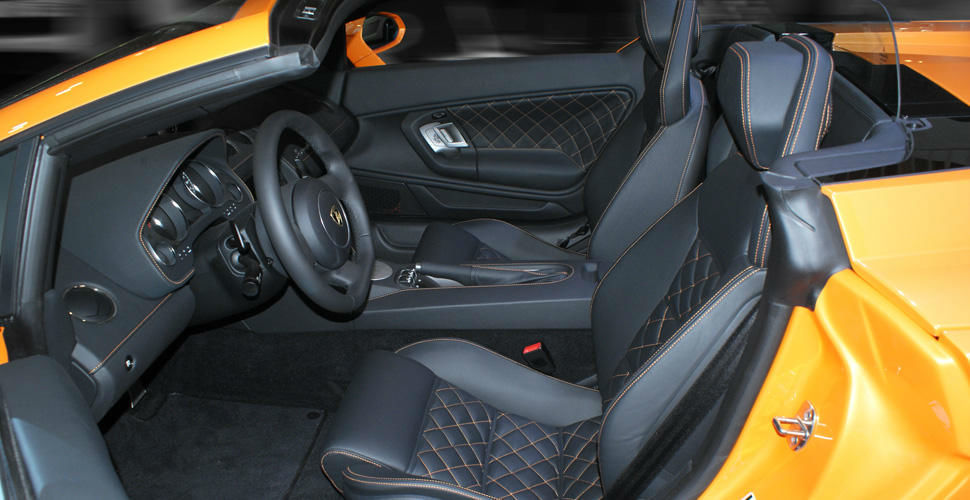 Beispiel: Lamborghini Innenansicht, Foto: Xclusivecars.