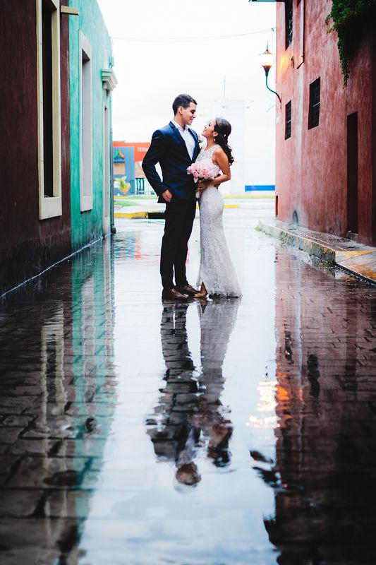 Una pareja radiante