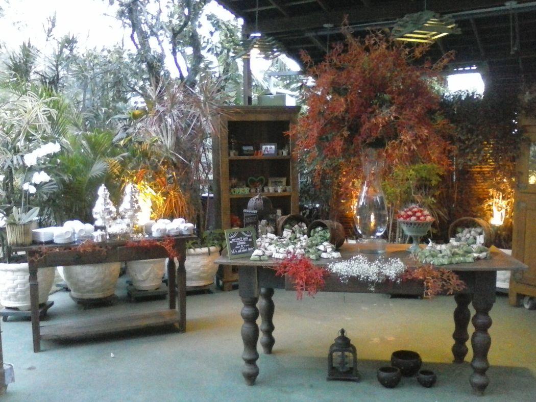 Área  da mesa de Chá.