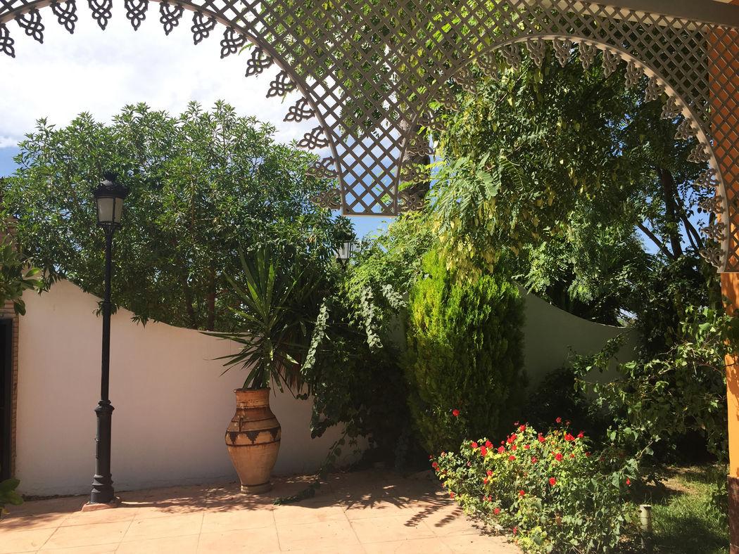 Patio Salón Mozarabe. Hacienda Azahares