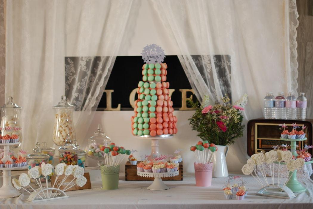 Ma Sweet Table  Location de décoration pour mariage Vintage,  Bohème- & tendance  Herault et Gard  Candy bar Bohème chic-