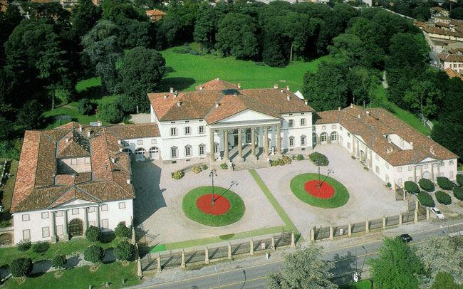 Vista aerea villa Caroli Zanchi
