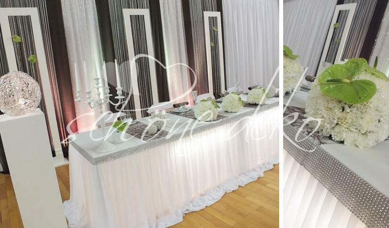 Beispiel: Dekoration der Buffet-Tische, Foto: Schöne Deko.