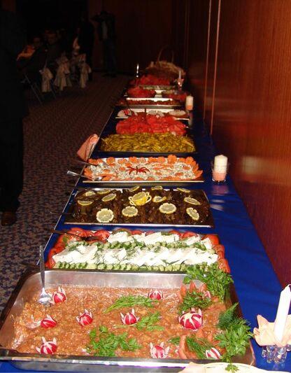 Beispiel: Buffetvorschlag, Foto: Dokur Catering.