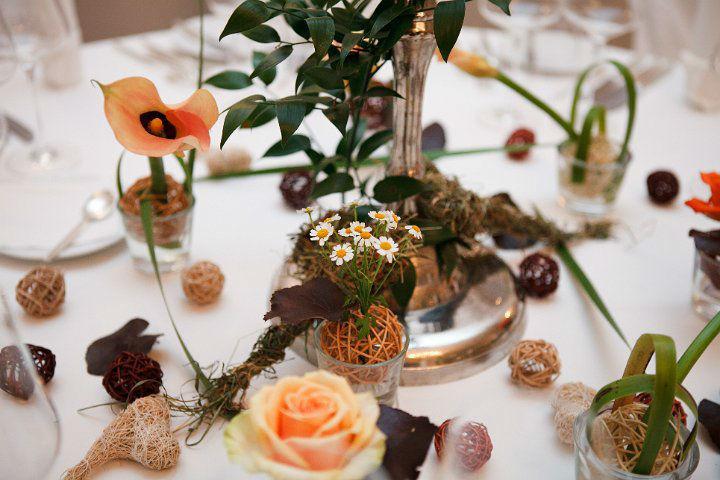 Beispiel: Aprikot farbener Brautstrauß, Foto: Blumentruhe.