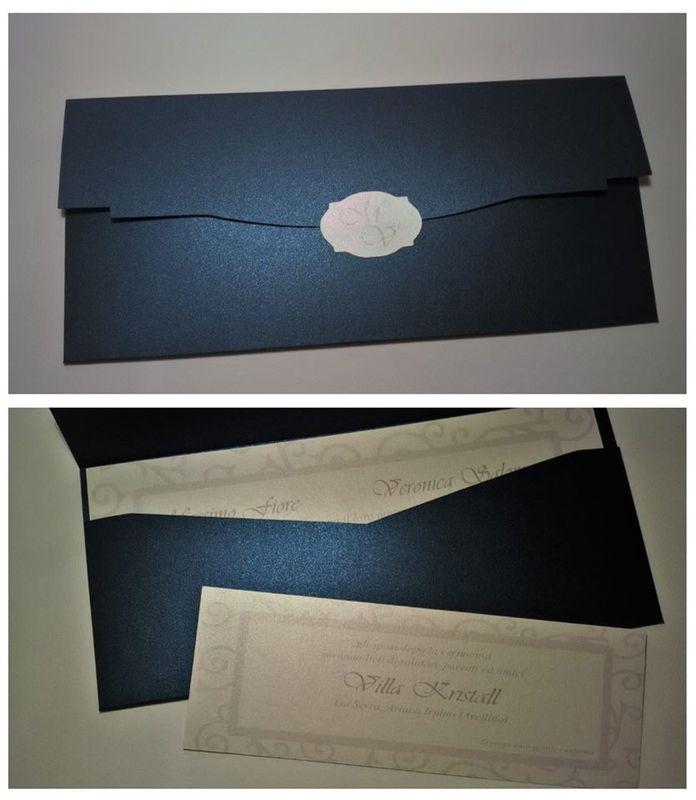 Invito di Nozze blu notte