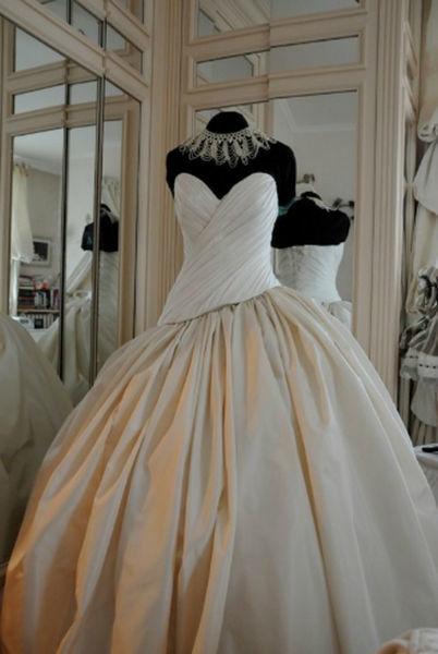 Robe de mariée Glamour corset drapé Agnès Szabelewski