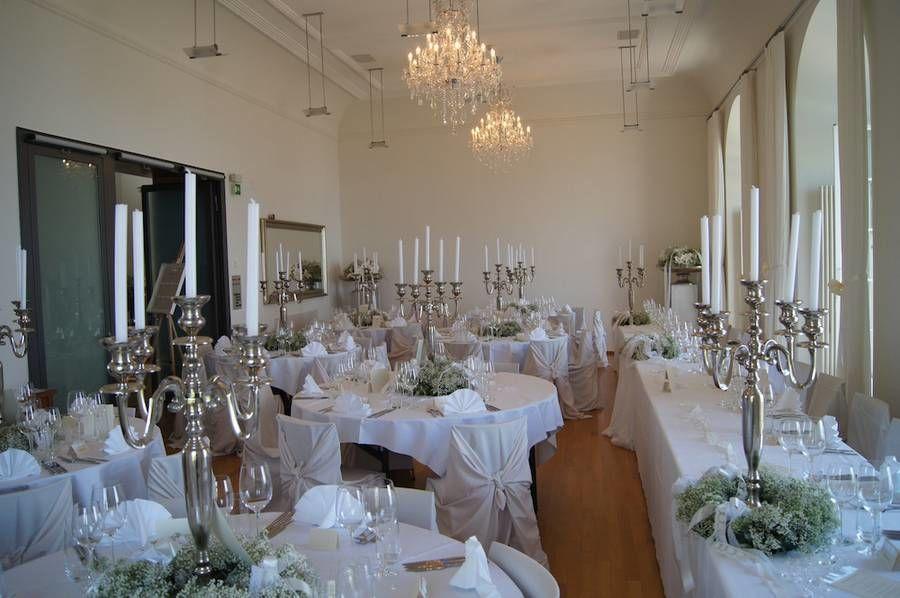 Beispiel: Tischdekoration, Foto: Schloss Wartensee.