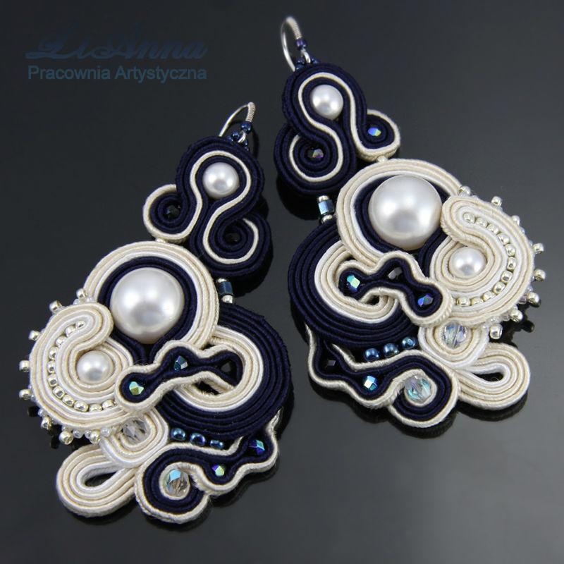 Biżuteria ślubna - haft sutasz- Anna Lipowska LiAnna