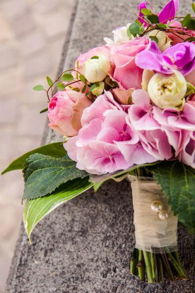 Detailaufnahmen Brautstrauß