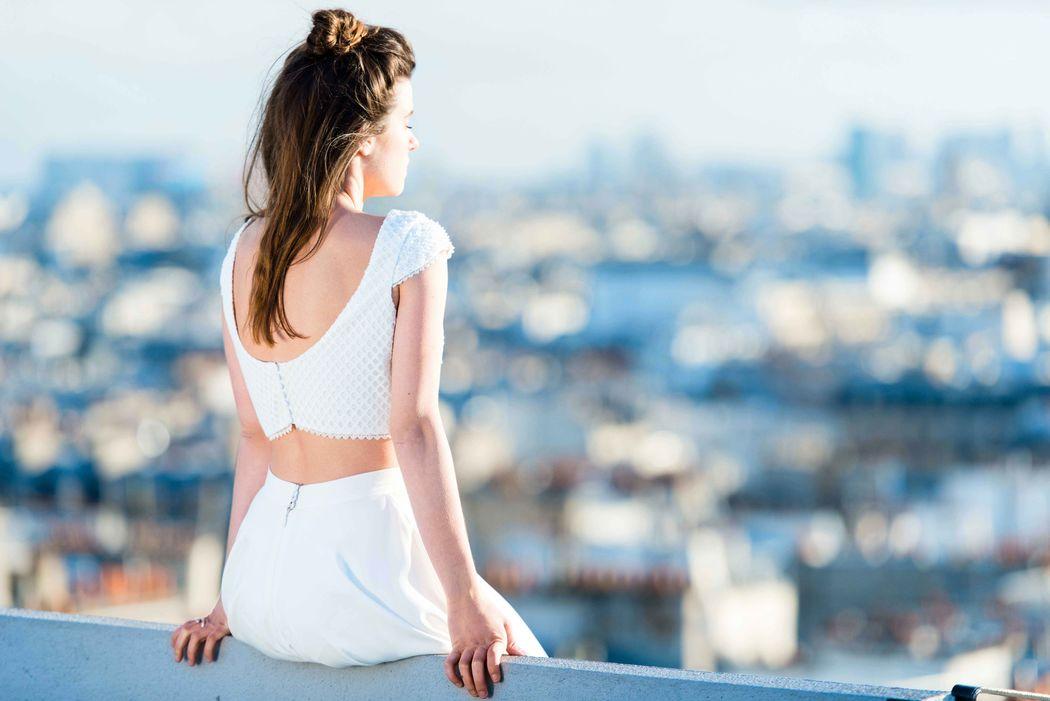 Mademoiselle de Guise / Collection civile 2017 / Top Lise & jupe Elia