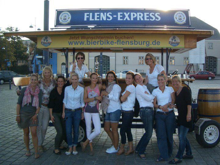 Beispiel: Ausflug mit dem BierBike, Foto: BierBike Flensburg.
