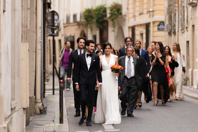 Mariage américain à Paris.
