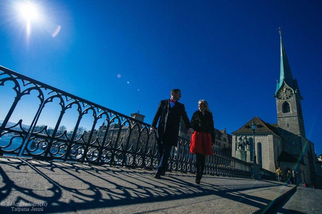 Zivil Hochzeit in Standesamt  Zurich in January