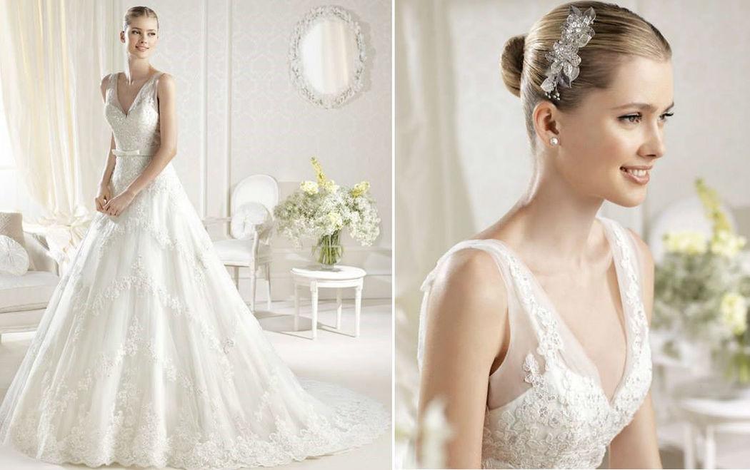 Beispiel: Brautkleid, Foto: Hochzeitsatelier.
