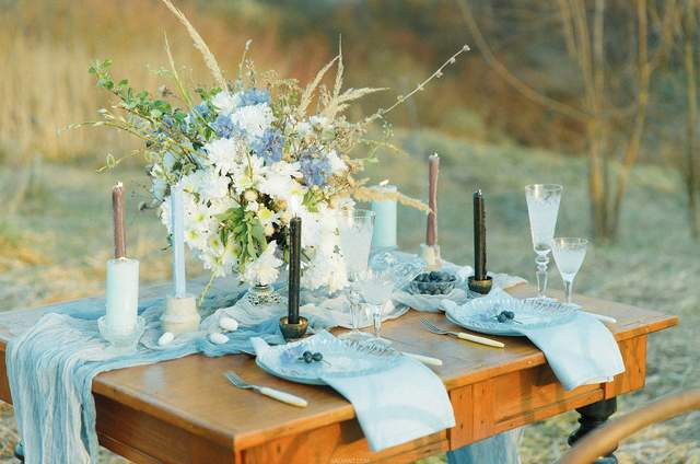 Blueberry decor&flowers