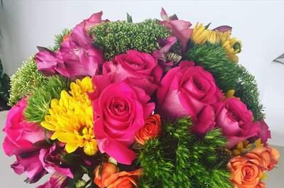 Rosa Violeta Diseño Floral
